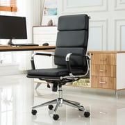 Roundhill Furniture Modica Contemporary High-Back Office Desk Chair; Black