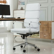 Roundhill Furniture Modica Contemporary High-Back Office Desk Chair; White