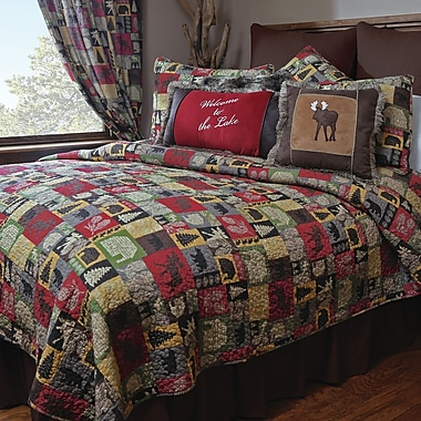 Loon Peak Albaugh 100pct Cotton Reversible Quilt; Queen