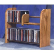 Wood Shed 200 Series 84 CD Multimedia Tabletop Storage Rack; Clear