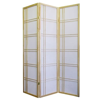 ORE Furniture Girard 70'' x 51'' 3 Panel Room Divider; Natural