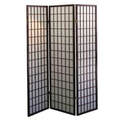 ORE Furniture 70'' x 51'' 3 Panel Room Divider; Cherry