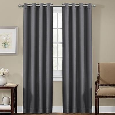 Maytex Blackout Single Curtain Panel; Gray