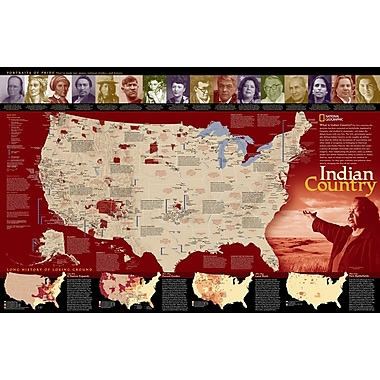 National Geographic Maps Indian Country Poster Map; Standard