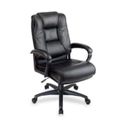 OSP Furniture High-Back Leather Executive Chair; Black