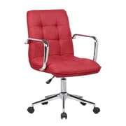 Porthos Home Mid-Back Desk Chair; Red