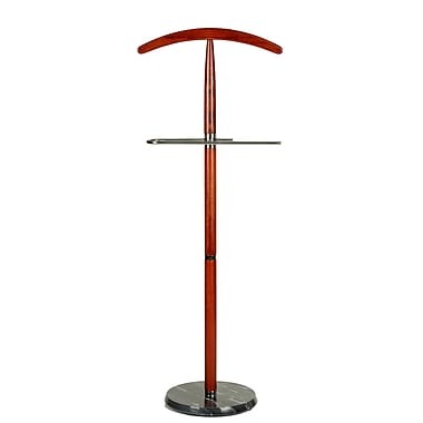 Cortesi Home Cambridge Suit Valet Stand in Cherry Wood
