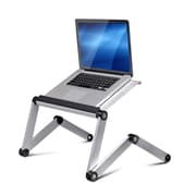 Wildon Home   Vented Laptop Table / Portable Bed Tray Book Stand; Silver