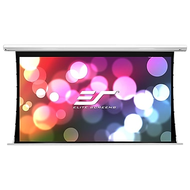 Elite Screens Saker White 73.5'' H x 130.7'' W Electric Projection Screen