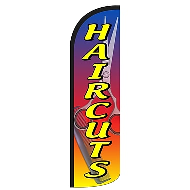 NeoPlex Haircuts Scissors and Comb Deluxe Vertical Flag