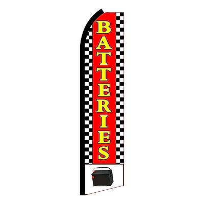 NeoPlex Batteries w/ Picture Checkered Vertical Flag