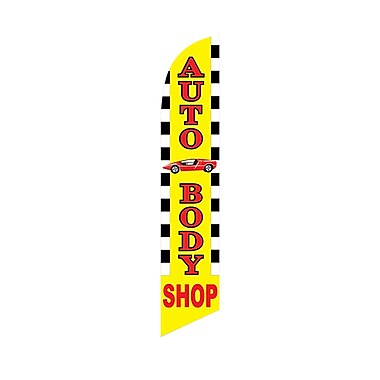 NeoPlex Auto Body Shop Deluxe Vertical Flag