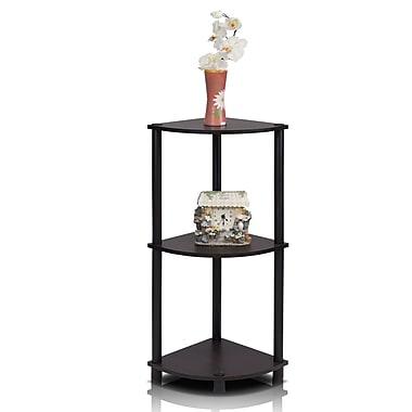 Wildon Home 29'' Corner Unit Bookcase; Espresso/Black