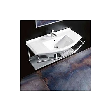 WS Bath Collections Topazio Ceramic Ceramic Rectangular Vessel Bathroom Sink w/ Overflow