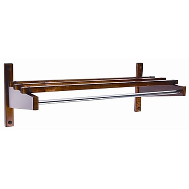Central Specialties LTD Economy 30'' Hardwood Top Bars Walnut Coat Rack