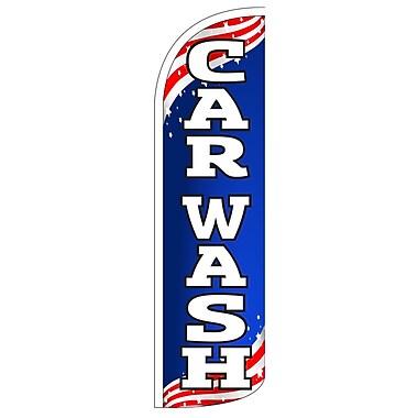 NeoPlex Car Wash Patriotic Vertical Flag