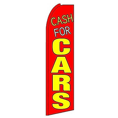 NeoPlex Cash For Cars Vertical Flag
