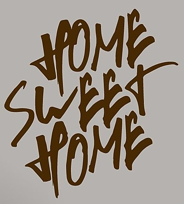 SweetumsWallDecals Home Sweet Home Wall Decal; Brown