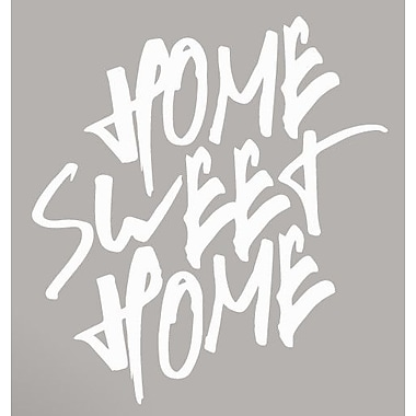 SweetumsWallDecals Home Sweet Home Wall Decal; White