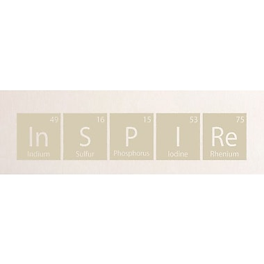 SweetumsWallDecals Inspire Periodic Table Wall Decal; Beige