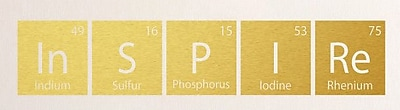 SweetumsWallDecals Inspire Periodic Table Wall Decal; Gold