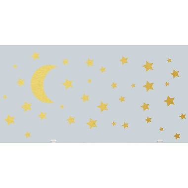 SweetumsWallDecals Moon and Stars Wall Decal; Gold