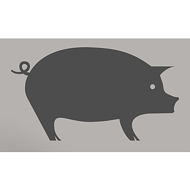 SweetumsWallDecals Pig Wall Decal; Dark Gray