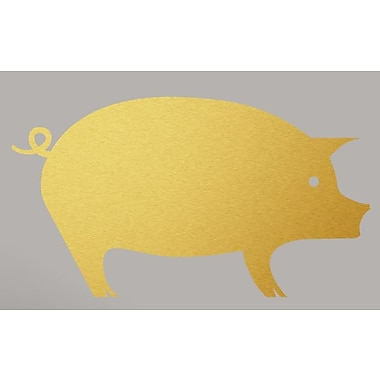 SweetumsWallDecals Pig Wall Decal; Gold