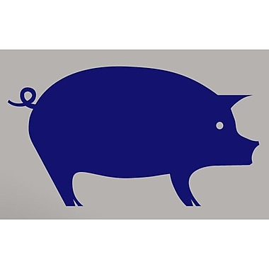 SweetumsWallDecals Pig Wall Decal; Navy
