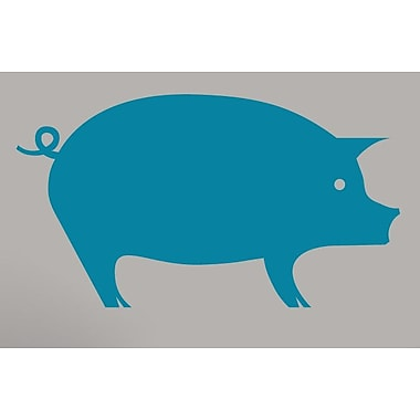 SweetumsWallDecals Pig Wall Decal; Teal