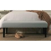 Ophelia & Co. Ardenvor Upholstered Bench; Dusty Aqua