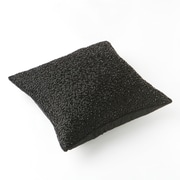 Best Home Fashion, Inc. Hand Beaded Decorative Throw Pillow Cover; Black