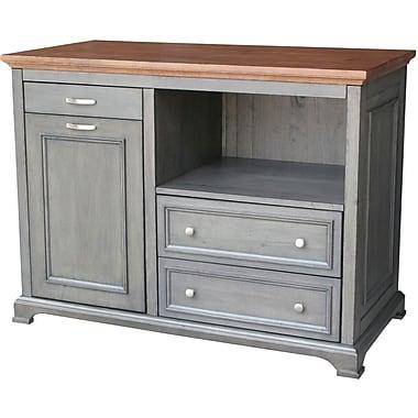 Just Cabinets Bristol Kitchen Island w/ Wood Top