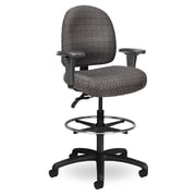 Seating Inc Pearl II Mid-Back Drafting Chair; Gray