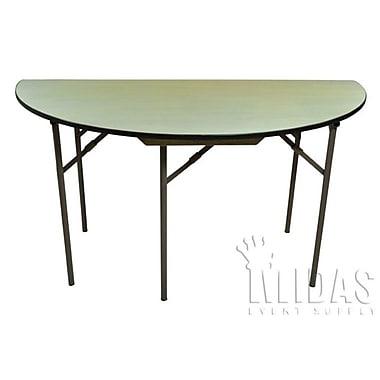 Midas Event Supply Elite Semi Circle Folding Table; 30'' H x 48'' W x 24'' D