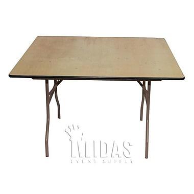 Midas Event Supply Elite Square Folding Table; 30'' H x 48'' W x 48'' D