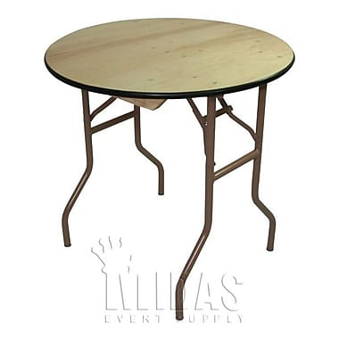 Midas Event Supply Elite Round Folding Table; 30'' H x 30'' W x 30'' D