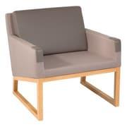 Oak Idea Solo Armchair; Steel Gray