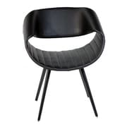 Oak Idea Free Armchair; Black