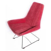 Oak Idea Keops Lounge Chair; Red