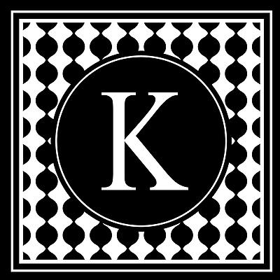 Enchantingly Elegant Letter ''K'' Wall Decal; 17'' H x 17'' W x 1'' D