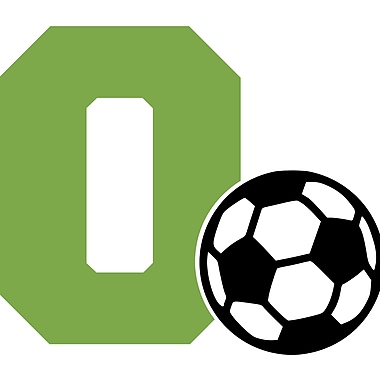 Enchantingly Elegant Letter ''O'' and Soccer Ball Wall Decal; 22'' H x 30'' W x 1'' D