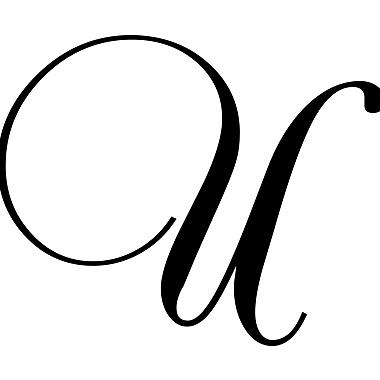 Enchantingly Elegant Letter ''U'' Wall Decal; 9'' H x 12'' W x 1'' D