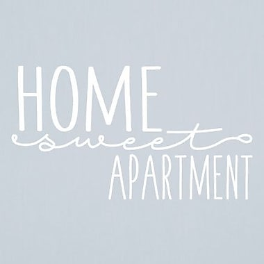 SweetumsWallDecals Home Sweet Apartment Wall Decal; White