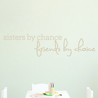 SweetumsWallDecals Sisters by Chance Wall Decal; Beige