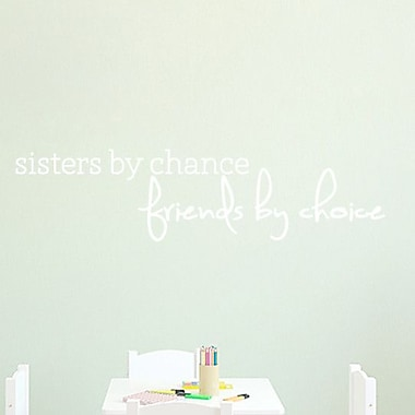 SweetumsWallDecals Sisters by Chance Wall Decal; White