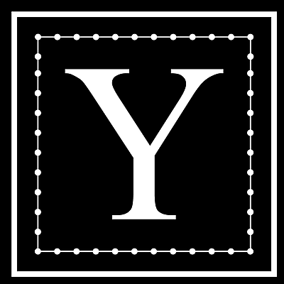 Enchantingly Elegant Letter ''Y'' Wall Decal; 17'' H x 17'' W x 1'' D