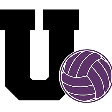 Enchantingly Elegant Letter ''U'' and Volleyball Wall Decal; 22'' H x 31'' W x 1'' D