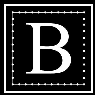 Enchantingly Elegant Letter ''B'' Wall Decal; 12'' H x 12'' W x 1'' D