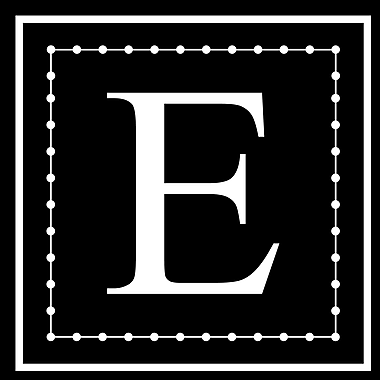 Enchantingly Elegant Letter ''E'' Wall Decal; 17'' H x 17'' W x 1'' D